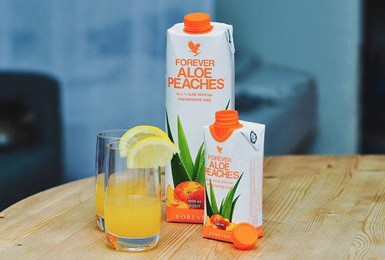 Aloe Vera Peaches med fersken fra studioaloe