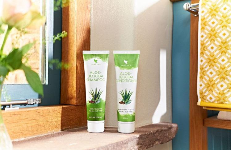 aloe jojoba shampoo og conditioner fra studioaloe